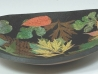 colored leaves stoneware bowl
